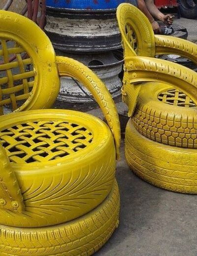 How to make a DIY Tire chair with back